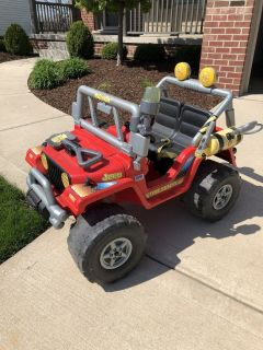 Power wheels jeep Fire truck