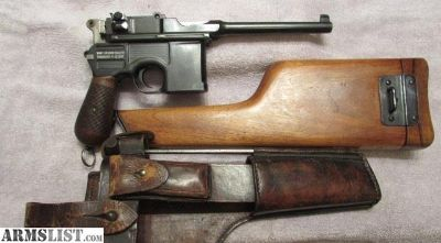 For Sale: ERA Mauser Model 1896 Broomhandle Pistol In 7.63mm
