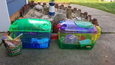 Hamster cage with extra in excellent condition!
