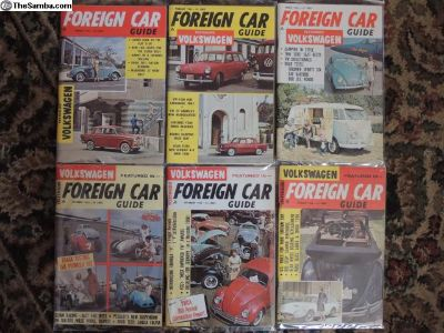Complete 1963 yr. 12 FOREIGN CAR Guides FREE ship!
