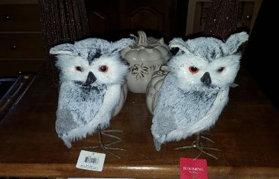 NEW with tags furry owl decorations