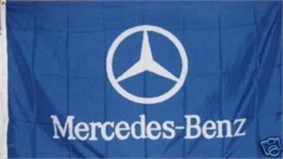Purchase MERCEDES BENZ Emblem Flag 3x5' Horizontal Blue Banner jwx* motorcycle in Castle Rock, Washington, US, for US $18.95