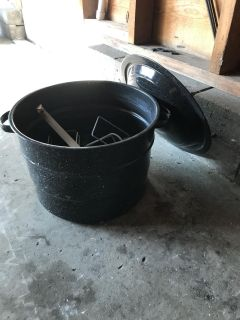 Canning pot with some supplies