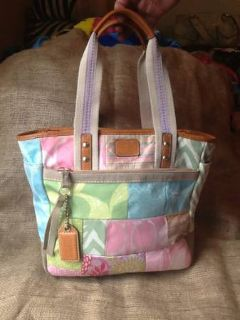 Coach purse pastel patchwork