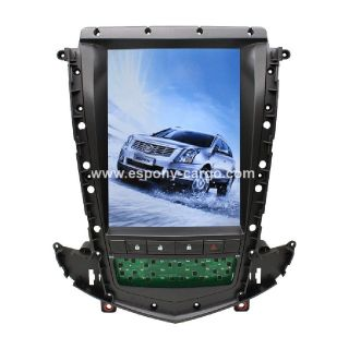 """10.4"""" TESLA-STYLE VERTICAL SCREEN ANDROID NAVI RADIO FOR CADILLAC SRX"""