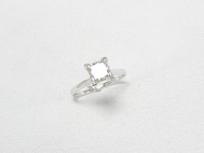14K White Gold 2.02ct Princess Diamond Ring