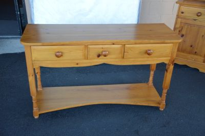 Solid Pine Sofa Table