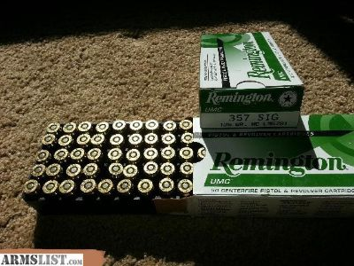 For Sale: Remington 357 Sig 125 FMJ, 500 rounds - 50 round boxes