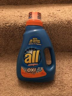 All laundry soap with Oxi Clean All laundry soap ((MOVING SALE))