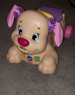 Fisher-Price Laugh & Learn Stride-to-Ride Pink Puppy