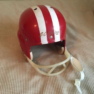 Vintage 1960 J.C. Higgins Red and White Youth Football Helmet great display piece for your man cave or boy s room