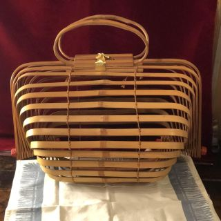Vintage 1950 s Bamboo Purse