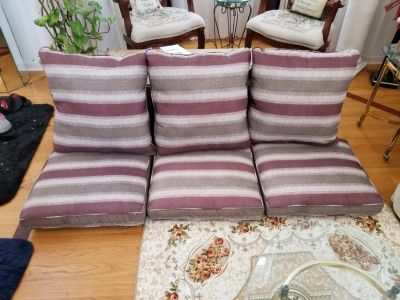 Like New Condition - Set of Three Indoor/Outdoor Seat Cushions