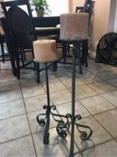 Tall Iron candle holders/Stands