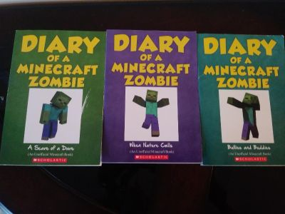 3 diary of a minecraft zombie books