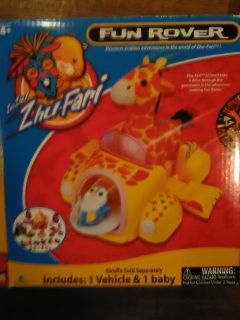 New in box . with toy hampster . zhu-fari fun rover . asking 10$ . see all pics .