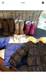 """American Girl Doll or any 18"""" Doll Jackets & Boots Lot"""