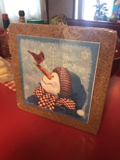 Christmas Trivet Hot Plate. New in the Wrapper!