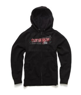 Buy Alpinestars Quickie Black Hoody Hooded Sweater Hoodie Zip Up motorcycle in Ashton, Illinois, US, for US $44.95