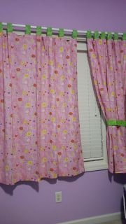 Very cute IKEA Kids curtains.They are tab top curtains.Selling 2 sets (total of 4 panels)