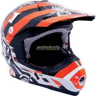 Purchase 2017 MotorFirst Magento Helmet-Orange/White motorcycle in Sauk Centre, Minnesota, United States, for US $159.99