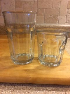 16 Drinking Glasses-Anchor Hocking-Complete Set for $8