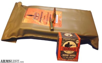For Sale: BBM 308FM143ZA Target Battlepack 308 Winchester/7.62 NATO 143 GR Full Metal Jacket Boat Tail 140 Pk/ 1 Cs. no taxes,no credit card fees, Flat rate shipping is $14.95 for unlimited ammunition