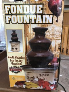 Chocolate fountain. Used once for a wedding