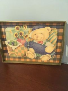 Cute Wooden Serving Tray