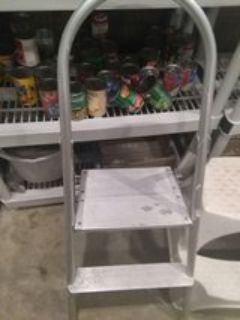 two step folding ladder
