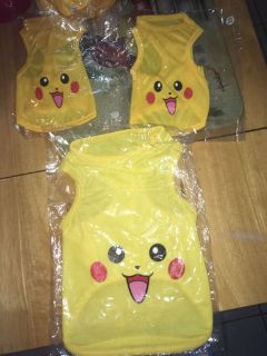 Pok mon pet shirts XS,large & 2x