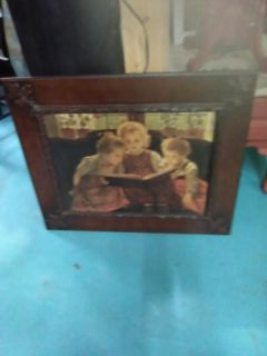 Antique carved wood picture