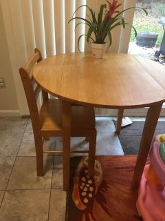 Table and one chair
