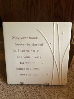 Hallmark Ceramic Irish blessing w easel