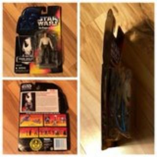 1996 Kenner Hasbro Star Wars - Power Of The Force Red Card Han Solo In Carbonite Block