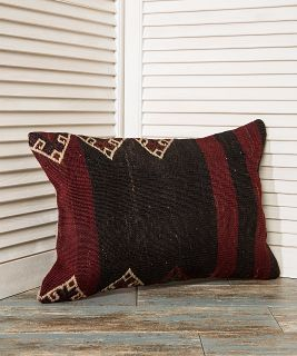 black and burgundy pillow, striped couch pillow