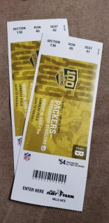 Tickets for TONIGHTS game
