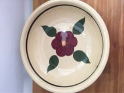 Large Pasta Bowl Watt Pottery Ovenware Rio Rose
