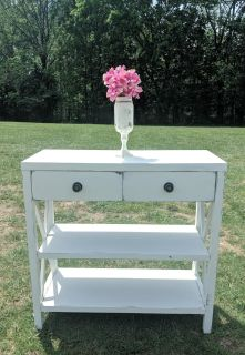 COUNTRY WHITE FARMSTYLE SOFA TABLE / ENTRY WAY TABLE