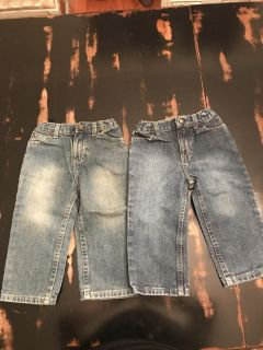 Lot is 2 size 24 month jeans-like new