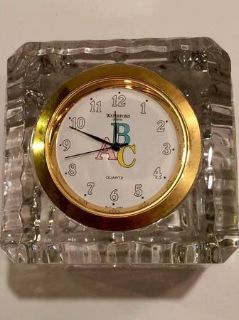 Waterford Crystal ABC Clock for nursery