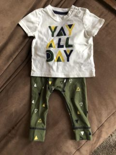 Cat & Jack Outfit 3-6 months