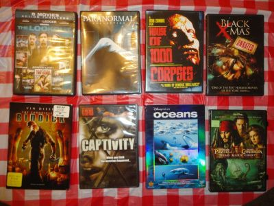 a collection of 39 dvd movies - some containing 2 dvd's