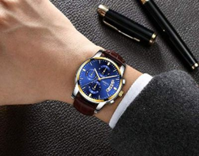 Business Casual Wrist Watch Leather