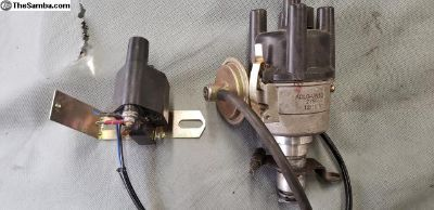 Electric points and distributor and coil new