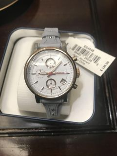 FOSSIL women s boyfriend chronograph watch NEW WITH TAGS AND GIFT BOX **Perfect for Valentines Day**