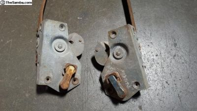 Low Light Ghia Door Latches & Pull Rods Pair