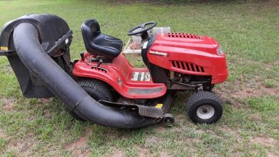 MTD Yard Machine lawn tractor with accessories