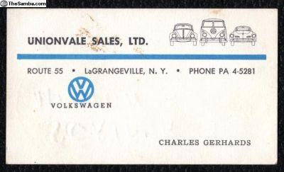 [WTB] Unionvale Sales, LTD. LaGrangeville, NY Items