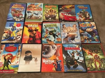 Kids Dvds-Most Have Only Been Watched Once-$2 each or 3 for $5